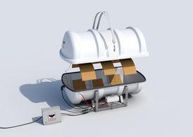 VIKING Polar Liferaft davit launchable 20 pers. 20DKF+