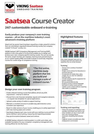 Saatsea Course Creator