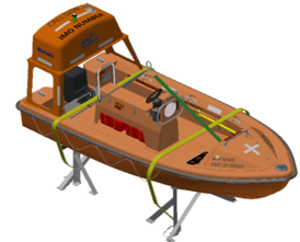 VIKING Norsafe Midget-500MKII with 40HP Norsafe Marine, Slings and Saddle RB