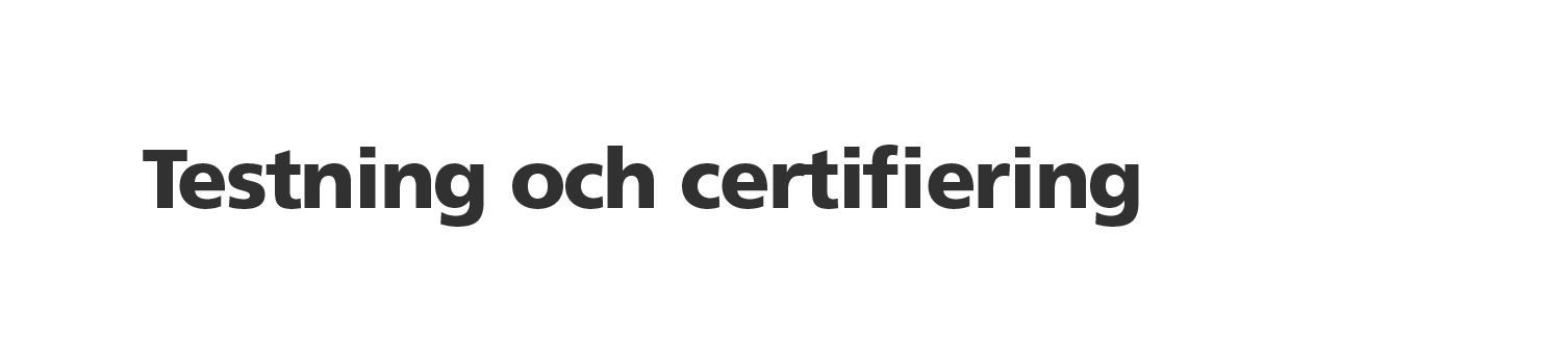 VIKING testning och certifiering