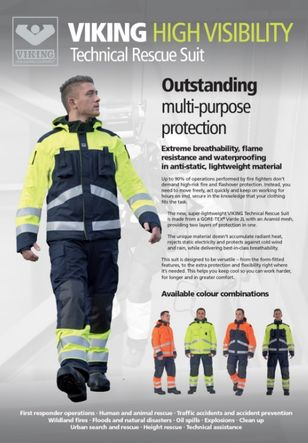 VIKING Rescue suits for technical purpose