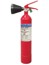 Fire Extinguisher, 2 kg, CO2, Stored Pressure, ABS