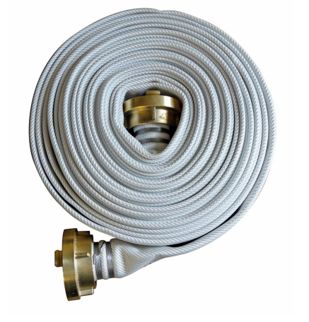 "Fire Hose White 2""5, 20 M, Storz-65, Brass"