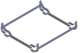 Stainless steel cradle, including lashing for 8DK-12DK+ in low profile container