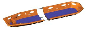 Basket Stretcher, Spencer Twin Shell, Orange, Black Mattress