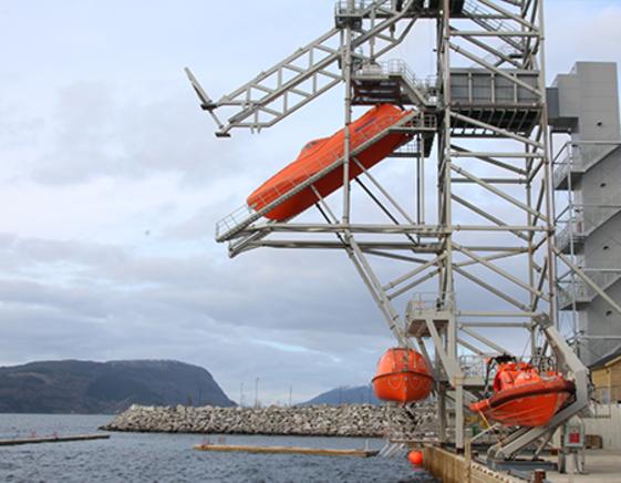 VIKING Norsafe test tower facilities Årsnes, Norway