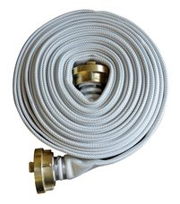 "Fire Hose White 2"", 20 M, Storz-C, Brass"