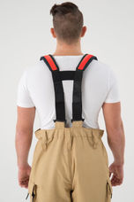 H-Suspenders for Overalls - With Red Trim